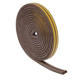 Уплотнитель резиновый TUNDRA krep, профиль D, размер 9 х 8 мм, коричневый, в упаковке 10 м Ош