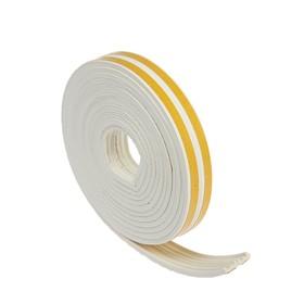 Уплотнитель резиновый TUNDRA krep, профиль Е, размер 4 х 9 мм, белый, в упаковке 6 м
