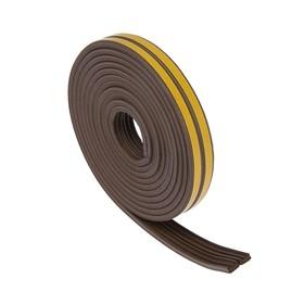 Уплотнитель резиновый TUNDRA krep, профиль Е, размер 4 х 9 мм, коричневый, в упаковке 6 м Ош