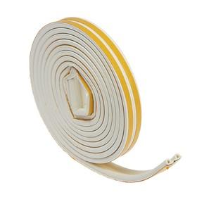 Уплотнитель резиновый TUNDRA krep, профиль Р, размер 5.5 х 9 мм, белый, в упаковке 6 м