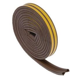 Уплотнитель резиновый TUNDRA krep, профиль Р, размер 5.5 х 9 мм, коричневый, в упаковке 6 м