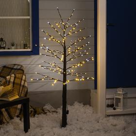 Дерево светодиодное уличное, 1,5 м, 224 LED, 220 В, эффект мерцания, БЕЛЫЙ