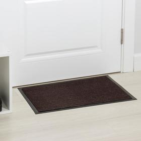 Коврик придверный влаговпитывающий ребристый «Стандарт», 40×60 см, цвет коричневый Ош