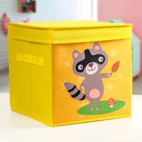 Короб для хранения с крышкой«Енотик», детский, 29×29×29 см Ош