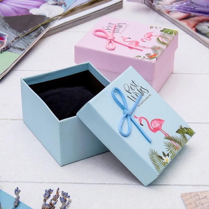 """Коробочка подарочная под браслет/часы """"Фламинго"""", 9*8 (размер полезной части 5,4х8,4см), цвет МИКС"""