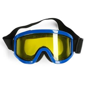 Очки-маска для езды на мототехнике, стекло двухслойное желтое, синий Ош
