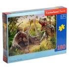Пазл 180 элементов «Битва динозавров»