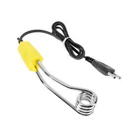 Электрокипятильник LuazON LEK 11, 500 Вт, спираль кольцо, 15х3 см, 220 В, желтый Ош