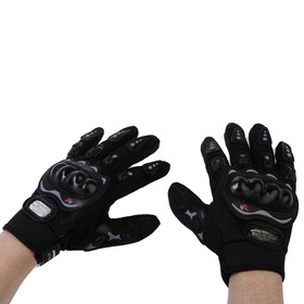 Перчатки для езды на мототехнике, с защитными вставками, пара, размер XXL, черные Ош