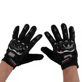Перчатки для езды на мототехнике, с защитными вставками, пара, размер XL, черные Ош