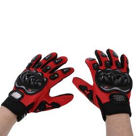 Перчатки для езды на мототехнике, с защитными вставками, пара, размер XL, красный Ош