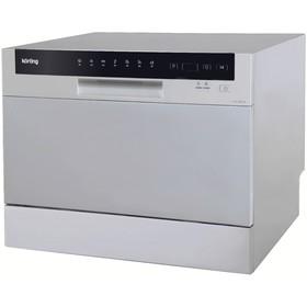 Компактная посудомоечная машина Körting KDF 2050 S, 6 комплектов, 7 режимов, 55 см, серая Ош