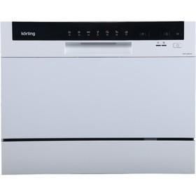 Компактная посудомоечная машина Körting KDF 2050 W, 6 комплектов, 7 программ, 55 см, белая Ош
