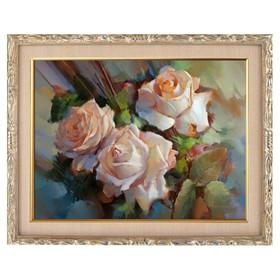 Алмазная мозаика «Чайные розы» 28 × 20 см, 22 цвета