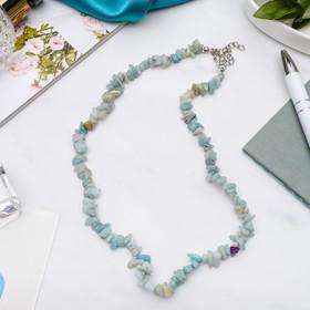 Бусы крошка мелкая 'Амазонит', цвет бело-голубой, 45см Ош