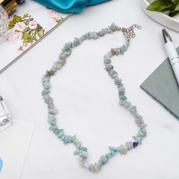 Бусы крошка мелкая Амазонит, цвет бело-голубой, 45см