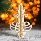 Сборная деревянная модель «Снежинка 6», ёлочная игрушка - Фото 1
