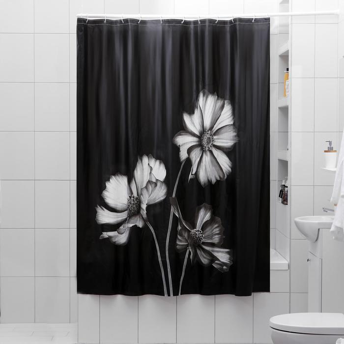 Штора для ванной комнаты «Алиса», 180×180 см, EVA