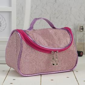 Косметичка-сумочка, отдел на молнии, зеркало, цвет розовый Ош