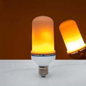 Лампа декоративная 'Горящее пламя', 3 режима, SMD2835, 96 LED, 7 Вт, 220 В, цоколь Е27 Ош