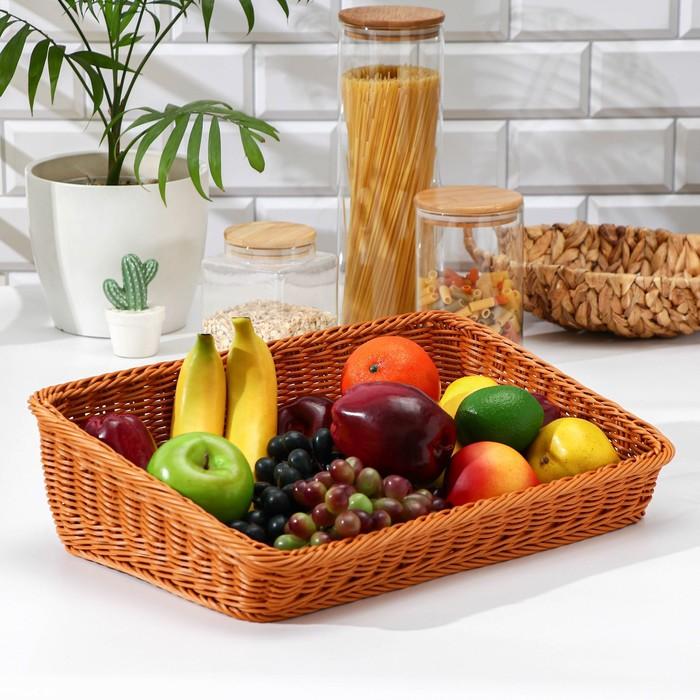 Корзина для фруктов и хлеба Доляна, 45×29×12 см