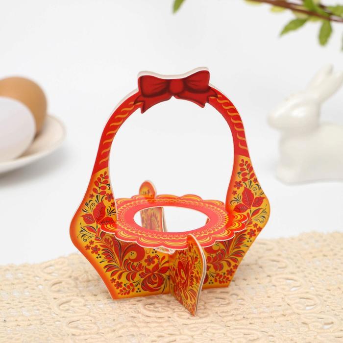 Подставка пасхальная на 1 яйцо Орнамент корзинка