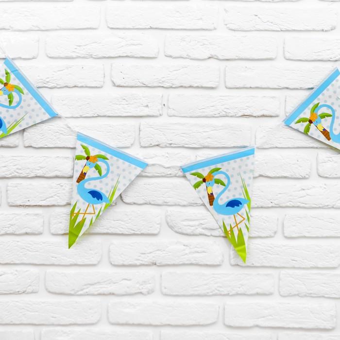 Гирлянда Фламинго, 2,5 м, цвет голубой