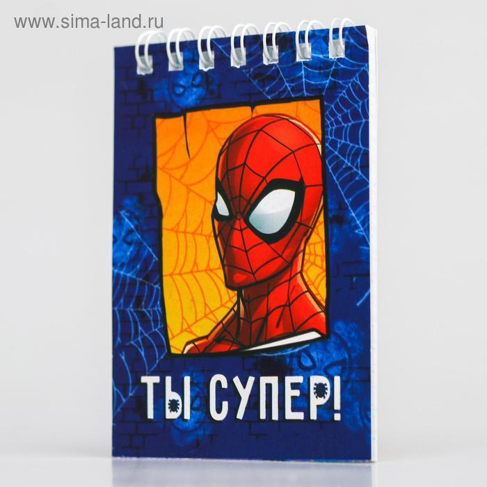 Блокнот на гребне MARVEL Человек-паук, 32 листа, А7