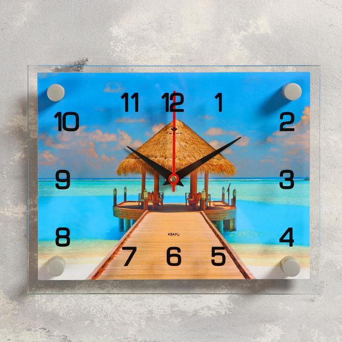 Часы настенные, серия Море, Пляж, 20х26 см, микс