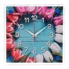 """Часы настенные, серия: Цветы, """"Бутоны"""", 25х25 см"""
