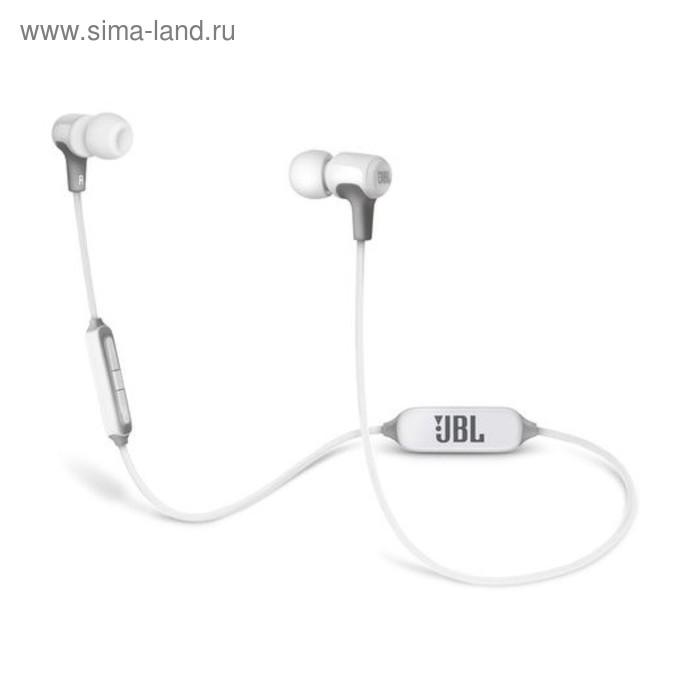 Наушники с микрофоном JBL E25BT, вкладыши, вакуумные, белые