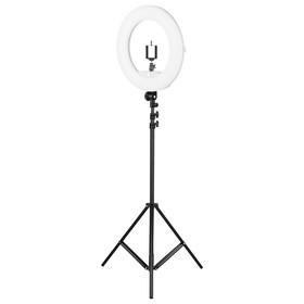 Кольцевая лампа OKIRA FD 480, 86 Вт, 480 светодиодов, d=46 см, + штатив, черная