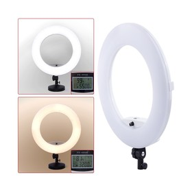 Кольцевая лампа OKIRA LED RING FE 480 PRO, 96 Вт, 480 светодиодов, d=45 см, + штатив, черная