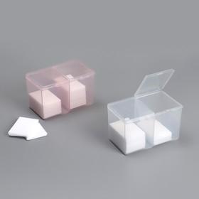 Контейнер для маникюрных принадлежностей, 2 ячейки, 12,5 × 7,5 × 7,5 см, цвет МИКС Ош