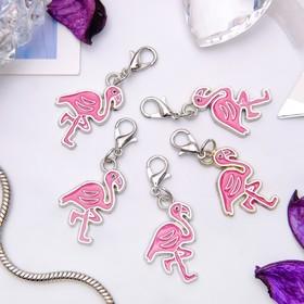 Шарм 'Фламинго', цвет розовый в серебре Ош
