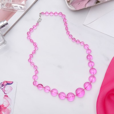 """Бусы """"Монпасье"""" яркие, цвет розовый, 50 см"""