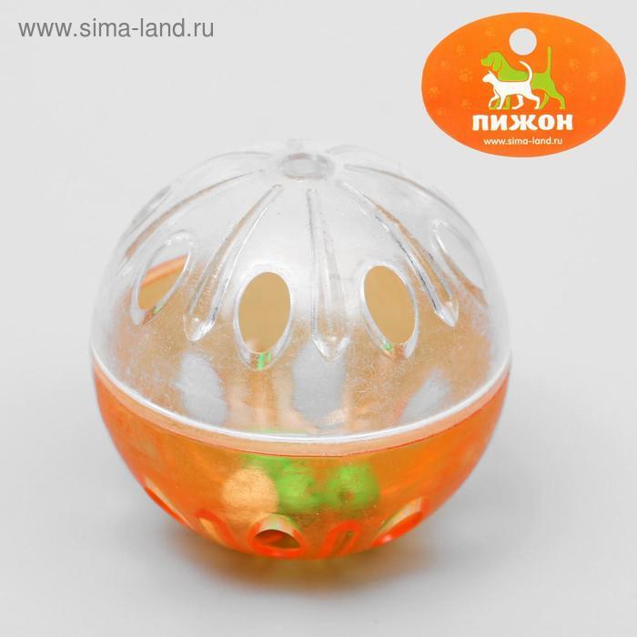 """Шарик для кошек """"Веселая семейка"""" с пластиковыми шариками внутри, 4,2 см, микс цветов"""