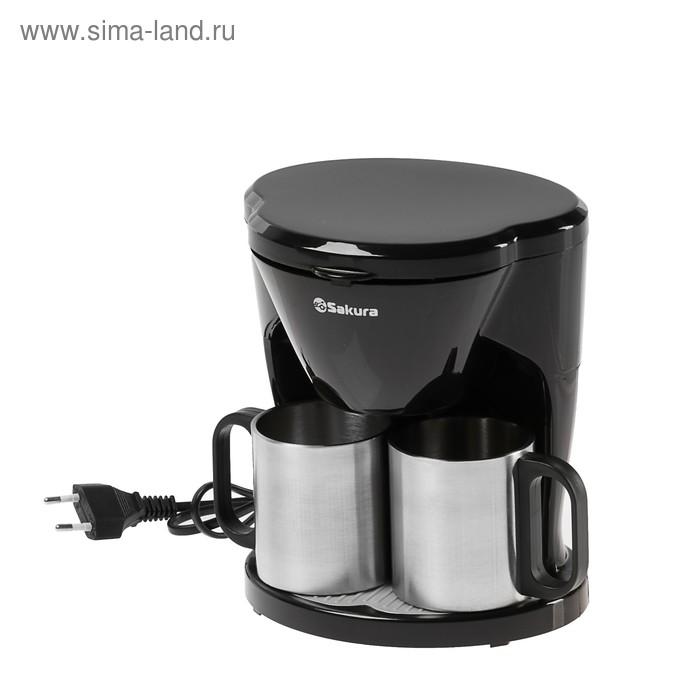 Кофеварка Sakura SA-6108BK, капельная, 450 Вт, 0.24 л, чёрная
