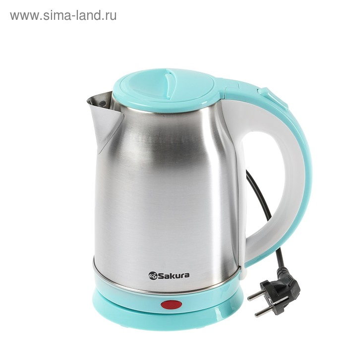 Чайник электрический Sakura SA-2147BL, 1800 Вт, 1.8 л, металл, голубой