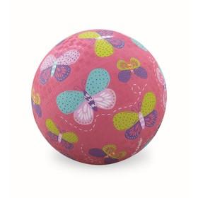 Мячик «Бабочки», розовый, 5'