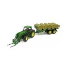 Игровой набор «Трактор-погрузчик с прицепом» 1:32