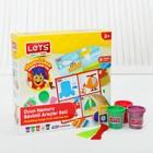 Тесто для лепки 5 цветов по 75 г «Транспорт» игровой коврик, резак, шпатель, ролик