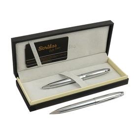 Ручка шариковая подарочная Scrikss Noble 35, поворотная, в чёрном футляре