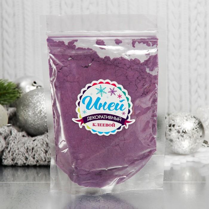 """Иней искусственный клеевой для декора """"Флок эффект"""" 120 г, цвет фиолетовый"""