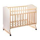 Кровать детская Морозко колесо-качалка (белый-береза) (1200х600 )
