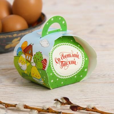 Пасхальная коробочка для яйца «Светлой Пасхи!»