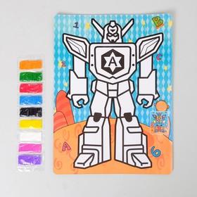 Фреска с цветным основанием 'Трансформер' 9 цветов песка по 2 г Ош