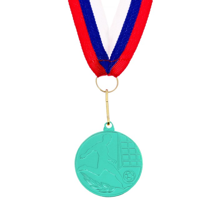 Медаль тематическая «Футбол», зелёный, d=5 см