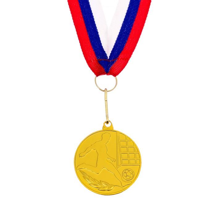 Медаль тематическая «Футбол», золото, d=5 см