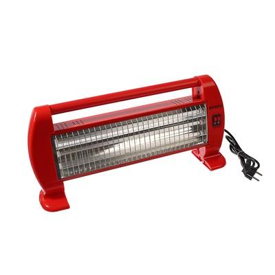 Обогреватель ENGY QH-1500S, кварцевый инфракрасный, 3 уровня нагрева, 1500 Вт, красный - Фото 1